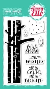 Avery Elle Clear Stamps LET IT SNOW Set 020481
