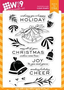Wplus9 SILVER BELLS Clear Stamps CL-WP9SB