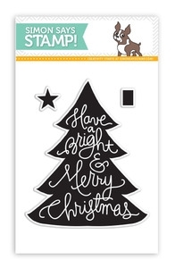 Simon Says Clear Stamps LARGE MERRY TREE sss101356