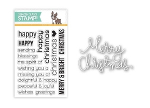 Simon Says DIE & STAMPS SET CHRISTMAS SENTIMENTS SetCS36