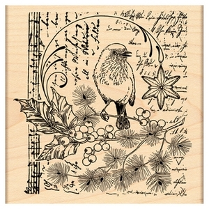 Penny Black Rubber Stamp SONG OF JOY 4344K zoom image