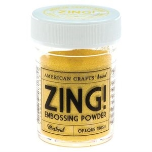 American Crafts Zing! MUSTARD Opaque Embossing Powder zoom image