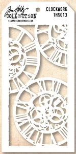 Tim Holtz Layering Stencil CLOCKWORK  THS013 Preview Image