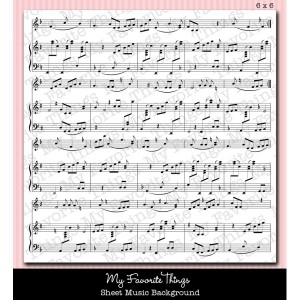 My Favorite Things SHEET MUSIC BACKGROUND Cling Stamp MFT zoom image