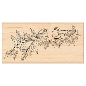 Penny Black Rubber Stamp HOLLY CONCERT 4337K Preview Image