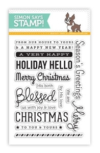 Simon Says Clear Stamps HOLIDAY HELLOS SSS101365 Preview Image