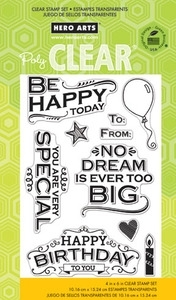 Hero Arts Clear Stamps BE HAPPY TODAY cl729  Preview Image