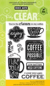Hero Arts Clear Stamps NEED CAFFEINE cl731
