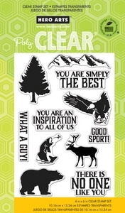 Hero Arts Clear Stamps WHAT A GUY cl753  OWH
