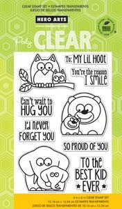 Hero Arts Clear Stamps LIL HOOT cl755  zoom image