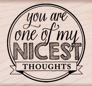 Hero Arts NICEST THOUGHTS Rubber Stamp k5878  zoom image