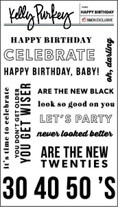 Kelly Purkey Clear Stamps HAPPY BIRTHDAY HBD013