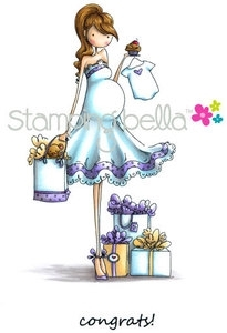 Stamping Bella Cling Stamp UPTOWN GIRL BRYNN HAS A BABY SHOWER Rubber UM EB247 zoom image