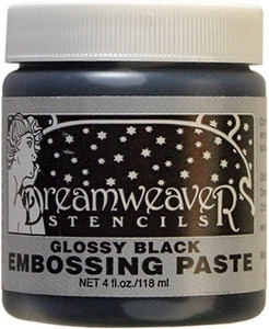 Dreamweaver GLOSSY BLACK Embossing Paste 4oz DGKP