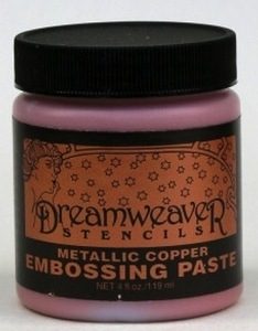 Dreamweaver METALLIC COPPER Embossing Paste 4oz DCP