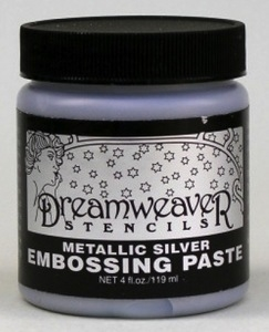 Dreamweaver METALLIC SILVER Embossing Paste 4oz DWDSP