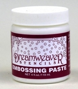 Dreamweaver WHITE Embossing Paste 4oz DWDEP