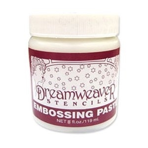 Dreamweaver WHITE Large Embossing Paste 8oz DEPL