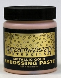 Dreamweaver METALLIC GOLD Embossing Paste 4oz DGP