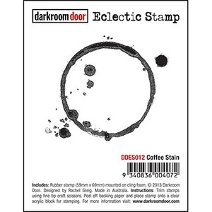 Darkroom Door Cling Stamp COFFEE STAIN Eclectic Rubber UM DDES012