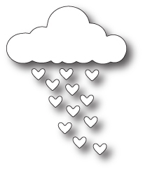Simon Says Stamp HEART RAINFALL Craft DIE s214 *