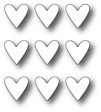 Simon Says Stamp TIC TAC TOE HEARTS Craft DIE s225