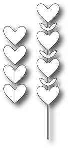 Simon Says Stamp HEART FLOWERS Craft DIE s226 *