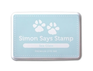 Simon Says Stamp Premium Dye Ink Pad SEA GLASS Blue ink004