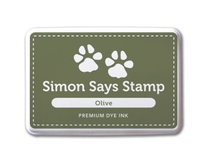 Simon Says Stamp Premium Dye Ink Pad OLIVE Green ink003 *