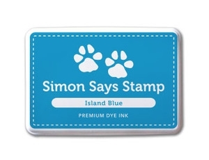 Simon Says Stamp Premium Dye Ink Pad ISLAND BLUE ink012 Preview Image