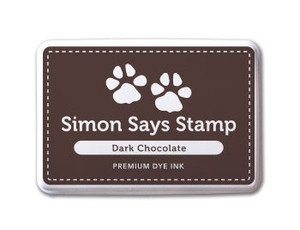 Simon Says Stamp Premium Dye Ink Pad DARK CHOCOLATE Brown ink007