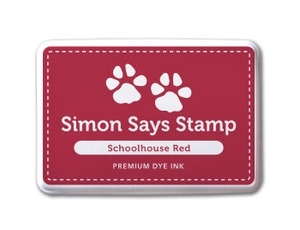 Simon Says Stamp Premium Dye Ink Pad SCHOOLHOUSE RED ink001