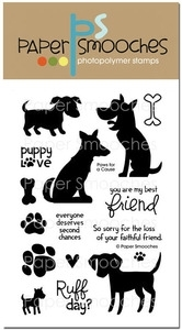 Paper Smooches PAWS FOR A CAUSE Clear Stamps Kim Hughes*