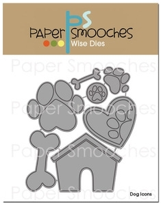 Paper Smooches DOG ICONS Wise Die Kim Hughes zoom image