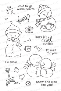Newton's Nook Designs FROZEN FRIENDS Clear Stamp Set 20131101*