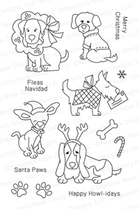 Newton's Nook Designs CANINE CHRISTMAS Clear Stamp Set 20131002