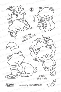 Newton's Nook Designs NEWTON'S HOLIDAY MISCHIEF Clear Stamp Set 20131001