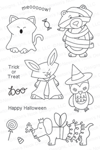 Newton's Nook Designs BOO CREW Clear Stamp Set 20130901