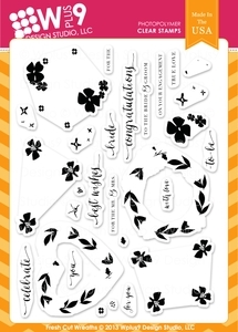 Wplus9 FRESH CUT WREATHS Clear Stamps CL-WP9FCW Preview Image