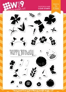 Wplus9 MORE FRESH CUTS Clear Stamps CL-WP9MFC