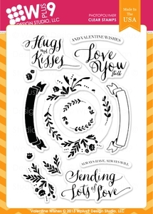Wplus9 VALENTINE WISHES Clear Stamps CL-WP9VW Preview Image
