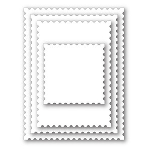 Simon Says Stamp POSTAGE STAMP EDGE FRAMES Wafer Dies SSSD111330