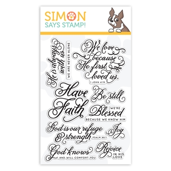 Simon Says Clear Stamps BLESSED SSS101370
