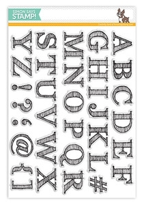 Simon Says Clear Stamps SKETCHED ALPHABET SSS101376