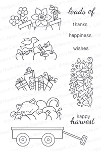 Newton's Nook Designs WAGON OF WISHES Clear Stamp Set 20130802