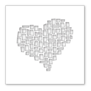 Simon Says Stamp Stencil MOSAIC HEART SSST121327