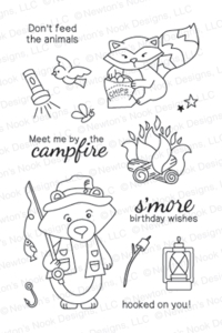 Newton's Nook Designs CAMPFIRE TAILS Clear Stamp Set 20130704