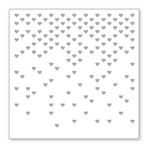 Simon Says Stamp Stencil FALLING HEARTS SSST121333