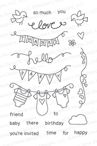 Newton's Nook Designs WINGED WISHES Clear Stamp Set 20130703