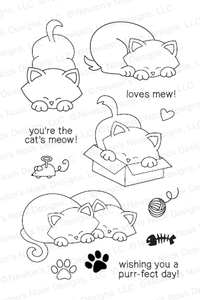 Newton's Nook Designs NEWTONS ANTICS Clear Stamp Set 20130701
